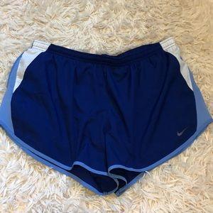 Blue Nike Dri-fit running shorts